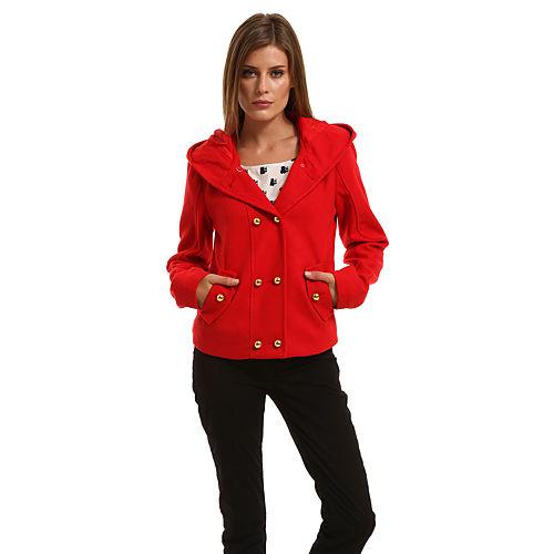 Vero Moda Kapüşonlu Kırmızı Ceket
