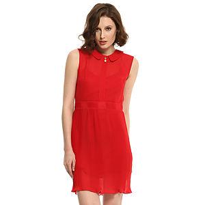 Zeynep Tosun Piliseli Kırmızı Elbise