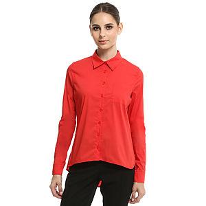 Enmoda Asimetrik Kırmızı Gömlek