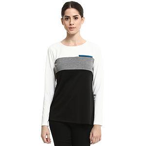 Enmoda Krem/Siyah Bluz