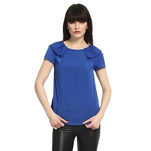 Koton Fırfır Yakalı Saks Mavisi Bluz