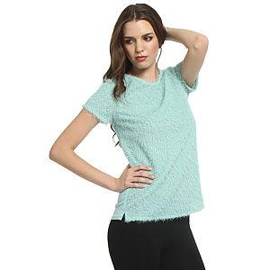 Koton Kırçıllı Yeşil Bluz