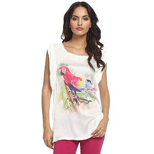 Koton Papağanlı Beyaz Bluz