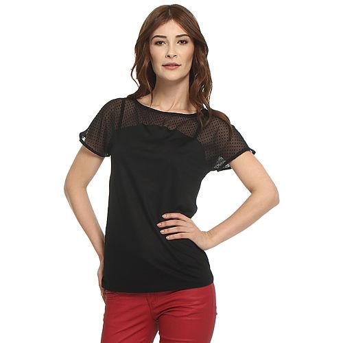 Koton Puantiyeli Siyah Bluz