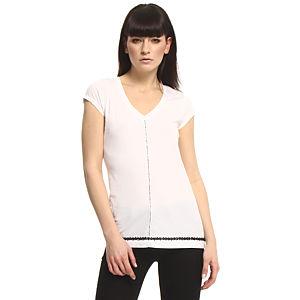 Vera Wang Lavender Label Çiçekli Beyaz Bluz