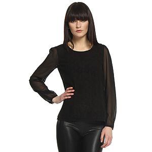 Vero Moda Dantelli Siyah Bluz