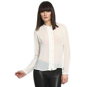 Vero Moda Zımba Düğmeli Beyaz Gömlek
