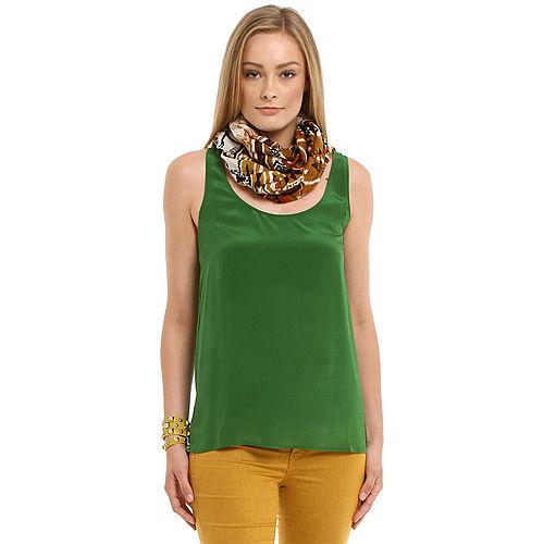 American Vintage Yeşil İpek Bluz