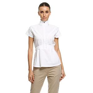 Bil's Apoletli Beyaz Gömlek