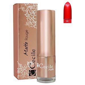 Cecile Matte Rouge Lipstick 02 Ruj
