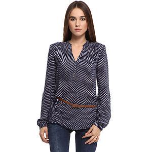 Colin's Çiçekli Lacivert Bluz