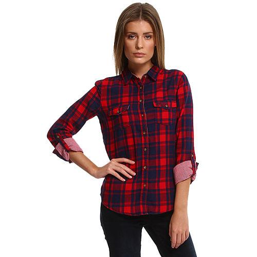 Colin's Kareli Kırmızı/Lacivert Gömlek