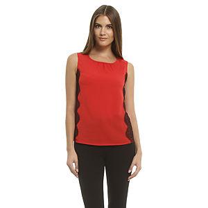 Enmoda Dantelli Kırmızı Bluz