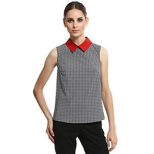 Enmoda Kırmızı Yakalı Siyah Bluz