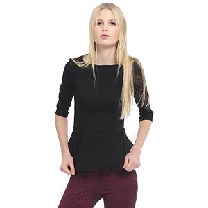 Enmoda Siyah Peplum Bluz