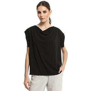 Enmoda Siyah Saten Bluz