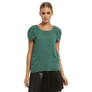 Gipsy Puantiyeli Yeşil Bluz