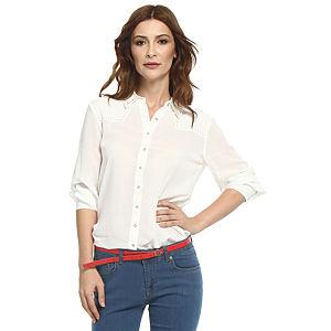 Koton Zımbalı Beyaz Gömlek