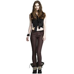 Mined Leather Bordo Kot Pantolon