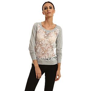 Only Dantelli Gri Sweatshirt