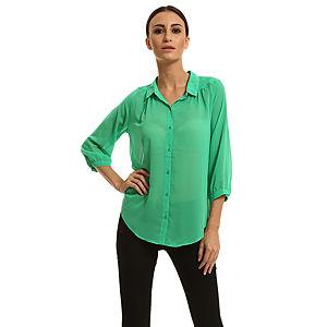 Only Yeşil Şifon Gömlek