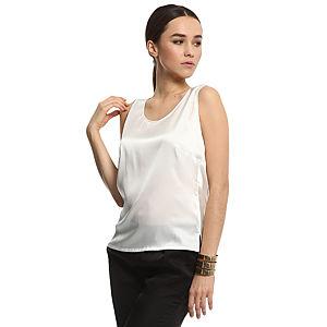 Silk & Cashmere Beyaz İpek Bluz