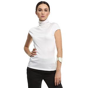 Silk & Cashmere Boğazlı Beyaz İpek Bluz
