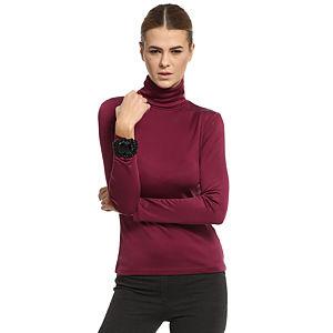 Silk & Cashmere Boğazlı Bordo İpek Bluz