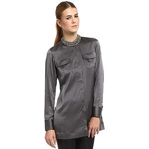 Silk & Cashmere Füme İpek Gömlek