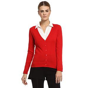 Silk & Cashmere Kırmızı İpek/Kaşmir Hırka
