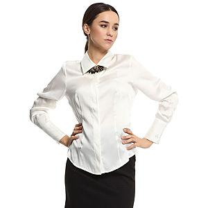 Silk & Cashmere Krem Rengi İpek Gömlek