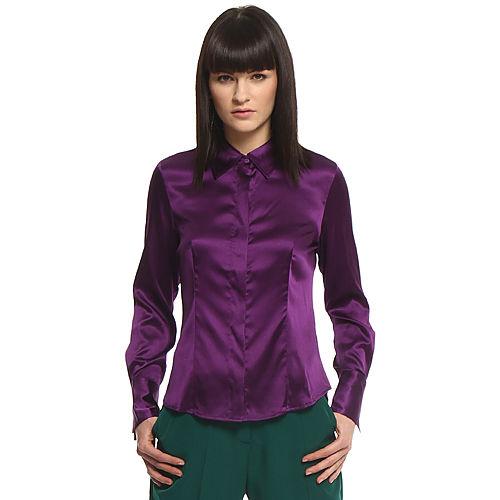 Silk & Cashmere Mor İpek Gömlek