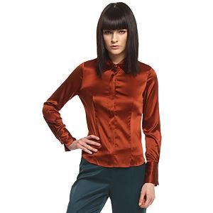 Silk & Cashmere Taba İpek Gömlek