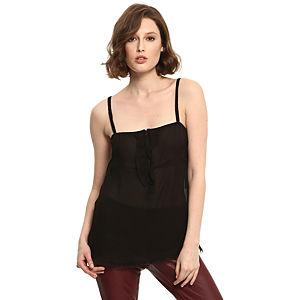 Vera Wang Lavender Label Fırfırlı Siyah Bluz