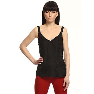 Vera Wang Lavender Label Taşlı Siyah Bluz