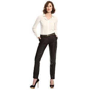 Vera Wang Parlak Siyah Pantolon