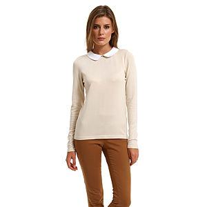Vero Moda Beyaz Yakalı Bej Bluz