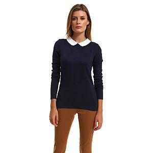 Vero Moda Beyaz Yakalı Lacivet Bluz