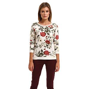 Vero Moda Çiçekli Krem Rengi Bluz