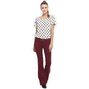 Vero Moda İspanyol Paça Bordo Pantolon