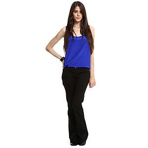 Vero Moda İspanyol Paça Siyah Pantolon