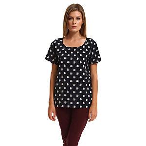 Vero Moda Rakun Desenli Lacivert Bluz