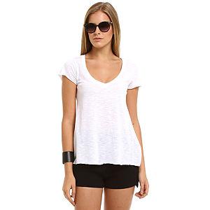 American Vintage Beyaz V Yaka Tişört