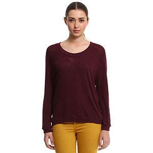 American Vintage Uzun Kollu Bordo Tişört