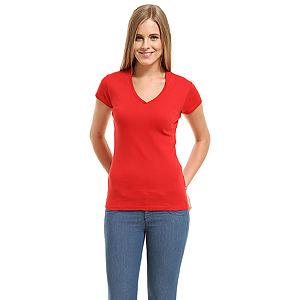 Benetton V Yaka Kırmızı Tişört