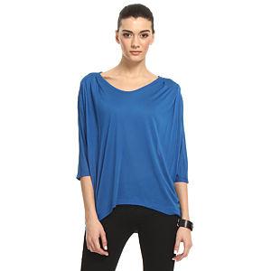 Enmoda Pilili Mavi Tişört