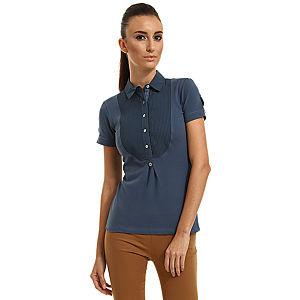 Enmoda Polo Yaka Mavi Tişört