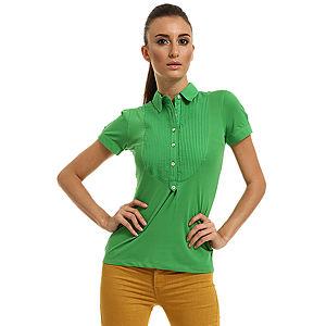Enmoda Polo Yaka Yeşil Tişört