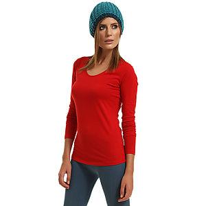 Enmoda Uzun Kollu Kırmızı Tişört