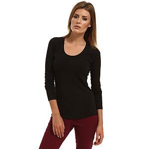 Enmoda Uzun Kollu Siyah Tişört